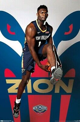 ZION WILLIAMSON - NEW ORLEANS PELICANS POSTER - 22x34 - NBA BASKETBALL 18207