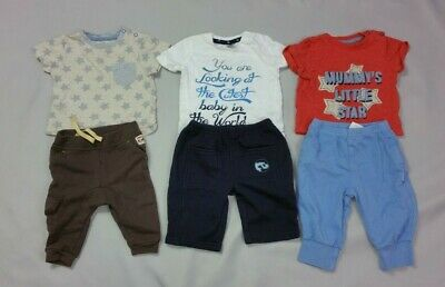 Baby Boys 3-6 Months Outfit Bundle Tops Trousers Joggers Jogging Bottoms T shirt