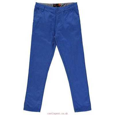 New Ben Sherman Chinos Junior Boys Nautical Blue Chinos Trousers Slim 14-15Yrs