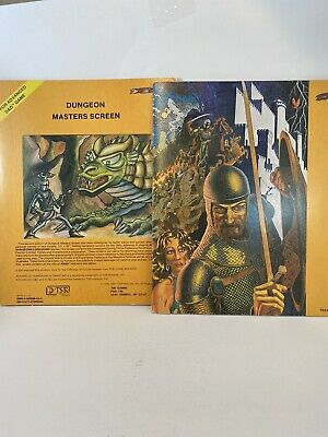 Vintage AD&D Advanced Dungeons and Dragons Dungeon Masters Screen from the 1980s