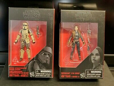 Star Wars Black Series - Jyn Erso And Scarif Stormtrooper 3.75 Action Figures