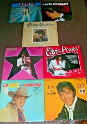 Vinyl Record Albums Collection ELVIS PRESLEY SEVEN VARIOUS LPs FROM THE 1960s