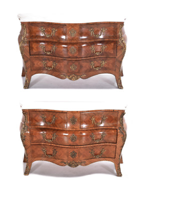 Pair of Louis XV style Marble Commodes Dressers Chests