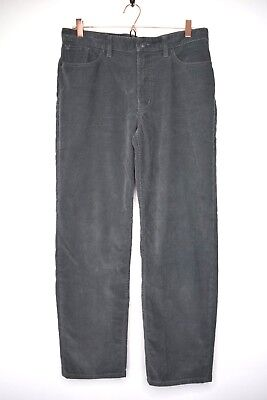 Lands End Corduroy Pants Women's Size 32 Gray Traditional Fit