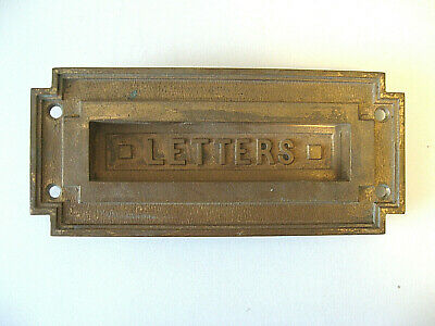 """Antique Brass """"LETTERS"""" Mail Slot for Doors"""