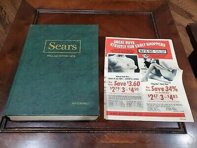 Hard Cover 1972 Sears Catalog Fall & Winter 1620 Pages Insert Awesome Condition