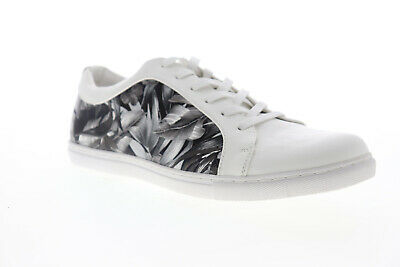Kenneth Cole Production Unlisted Men/'s White//Brown Lightness Low-Top Sneakers.