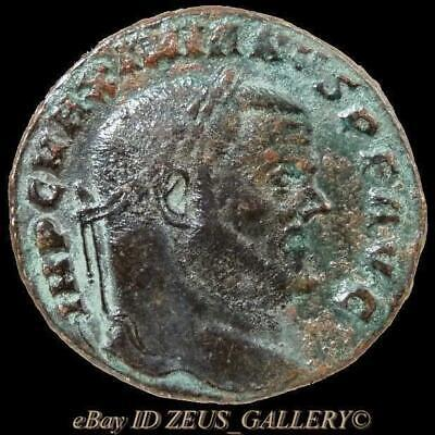 MAXIMIANUS, Goddess of Money MONETA Ancient Roman Follis Coin Rome mint