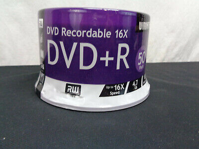 NEW Windata 50 Pack Of DVD Recordable 16X  120 Min Video Discs (OAW18)
