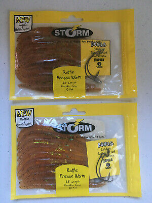 4 PACKS OF STORM RATTL/'N /& HOLOGRAPHIC RT05GPPK Rattle Tube with 10 Baits//Pack