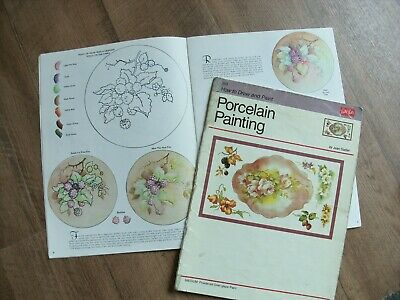 How to draw and paint porcelain China Walter Foster books x 2 vintage 1989