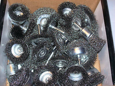 40pc CALHAWK STEEL WIRE WHEELS & CUP BRUSHES FOR DRILLS