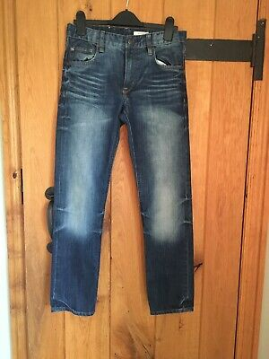 Boy's H&M Dark Blue Jeans - Narrow Seat - Waist Reg - Slim Leg - Age 11-12 Years