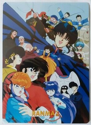 CARD MANGA MOUSEPAD ANIME RANMA MOVIE LE 7 DIVINITà FORTUNA + 1 BUSTINA FIGURINE