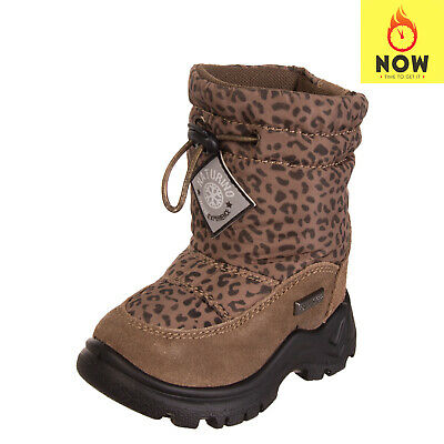 NATURINO Snow Boots EU 20 UK 3.5 Waterproof Contrast Leather Faux Fur Inside