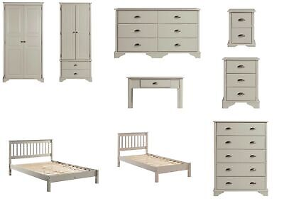 Core Brora Grey Oak Veneer Bedroom Range - Beds, Chests, Wardrobes