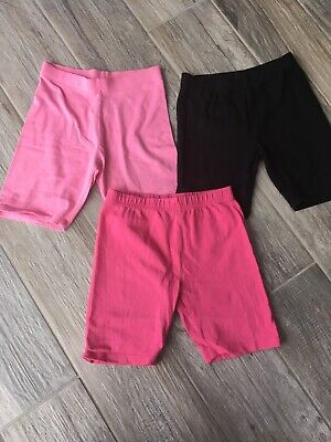 Cycling Shorts Bundle Pink And Black Girls Age 7-8 Years