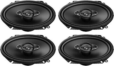 """4) Pioneer A-SERIES TS-A6880F 350W Max 6x8"""" 4-Way Coaxial Car Audio Speakers"""