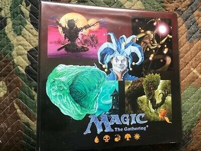 MTG Magic the Gathering Ultra Pro 3 Ring Binder w/ 20+ 9-pocket pages-Good Used