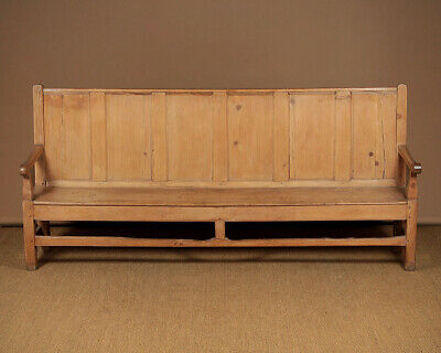 Antique Long Pine Settle c.1880.