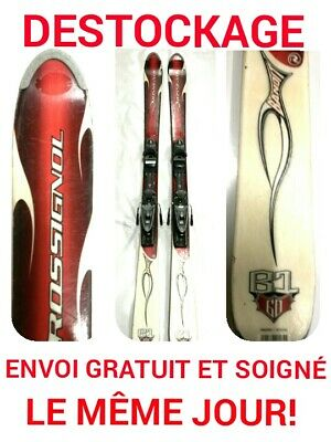 "ski occasion adulte ROSSIGNOL ""BANDIT "" taille:160cm"