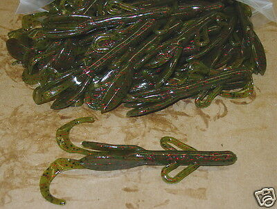 """4/"""" Baby Hog Brush Hog Style Mix and Match Assortment 50 count bag bass worm"""