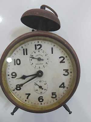 A very rare and unique alarm clock in the middle of the nineteenth century, a ma