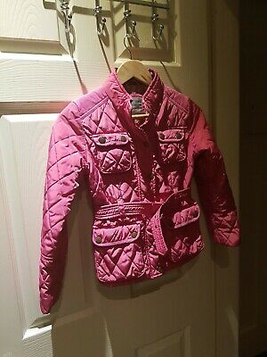 NEXT Girls Pink Quilted Belted Jacket Age 9-10 Years