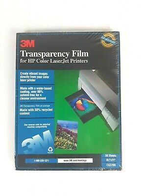 3M Transparency Film For Color Laser Printers CG3700 50 Sheets NEW