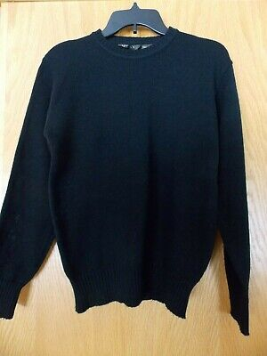 Vintage Men's Size S Small Black long sleeve acrylic pullover sweater