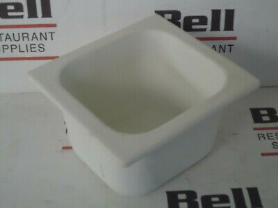 *USED* GET Bugambilia IH1/6D Resin Coated Food Pan - 1/6 Size - White - NSF