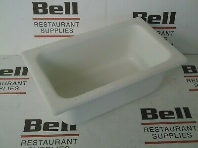 *USED* GET Bugambilia IH1/4D Resin Coated Food Pan - 1/4 Size - White - NSF