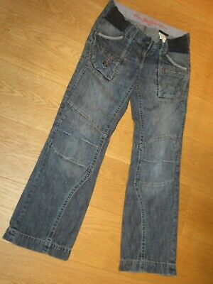 Ladies Next maternity boyfriend under the bump blue jeans, size 8 R