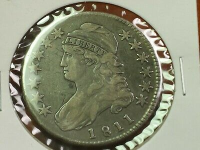 1811 Capped Bust Half Dollar, Better Date, Higher Grade Type Coin Silver 50C