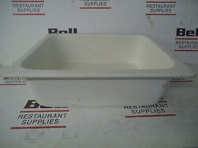 *USED* GET Bugambilia IH1/2D Resin Coated Food Pan - 1/2 Size - White - NSF