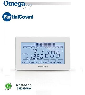 CH180 - 230V Thermostat Programmable Touch Blanc Hebdomadaire Mural 230V Jockeys