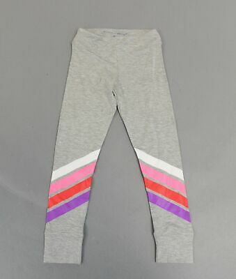 Rockets of Awesome Girls Full Length Striped Leg Leggings BF5 Grey Size 7 NWT