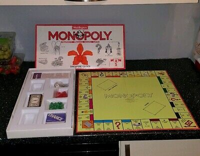 Monopoly Singapore Edition Of The Monopoly Board Game Parker Bros 1991 Unused