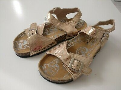 BNWT___gold sandals shoes girl size 2 uk kids