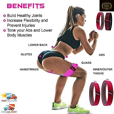Hip Circle Glute Resistance Bands Leg Squat Exercise Strength Booty Band Non