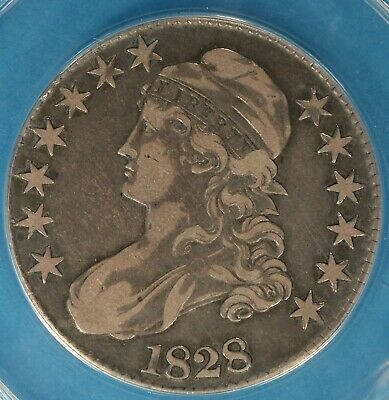 1828 Capped Bust Half Dollar ANACS VF25- Sq Base 2, LG 8's, Sharp Lookin Example