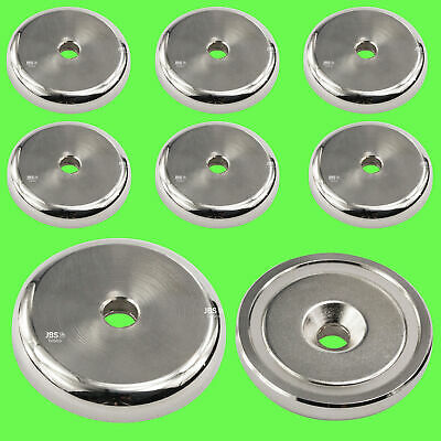 (8 Pcs) Pot Magnet Neodymium Ø 40 mm Strong Holding Strength / Hole+Reduction