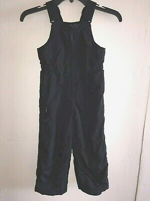 Slalom toddler childs kids insulated/lined snow ski bib Pants 4T black Winter