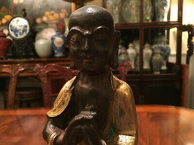 ALarge Excellent Chinese Qing Dynasty Gilt Bronze Luohan.