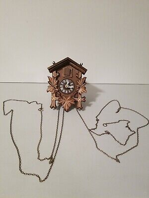 Vintage Cuckoo Clock For Parts or Repair West Germany Regula UNTESTED