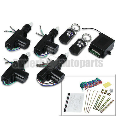 12V Power Central Door Locking System w/Keyless Remote Control