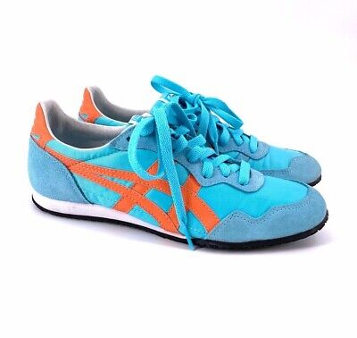 ASICS ONITSUKA TIGER SERRANO SHOES Blue Orange Sneakers Womens Size 7