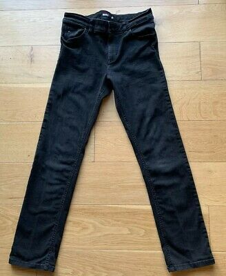 Tommy Hilfiger Black Skinny Boys 12 14 Jeans Hardly Worn - Adjustable Waist