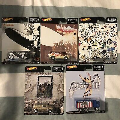 Hot Wheels 2020 Pop Culture Led Zeppelin Complete 5 Car Set