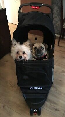 Pet Stroller Dog Puppy Cat Pushchair 3 Wheel Buggy Carrier Travel